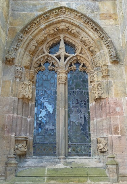 Rosslyn Chapel - window on north side