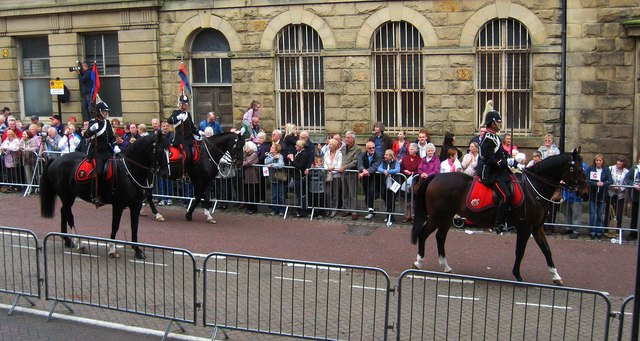 Preston Guild Trades Procession 2012 (004) - Lancashire Constabulary mounted police officers