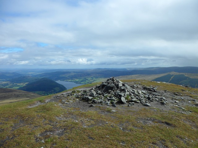 The summit of Meall Greigh