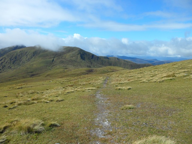 Lawers Range from northeast of Meall Greigh
