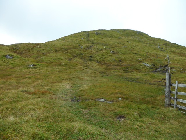 Beginning the ascent of Meall Garbh
