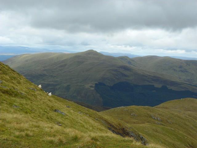 View across the shoulder of Coire Thaochaidh