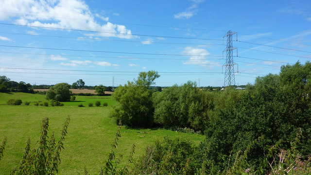 Overhead Power Lines, Dunham Woodhouses/Woolstancroft Farm
