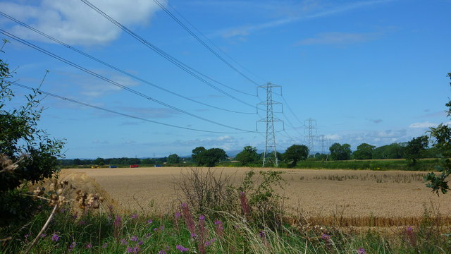 Overhead Power Lines, nr. Little Bollington