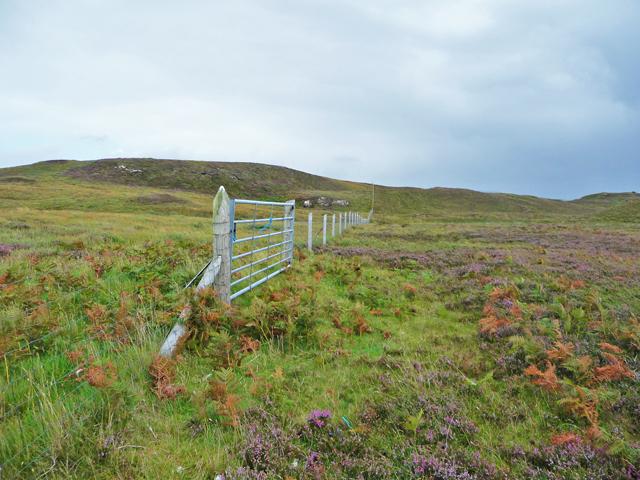 Fence line across Cnoc Fadail