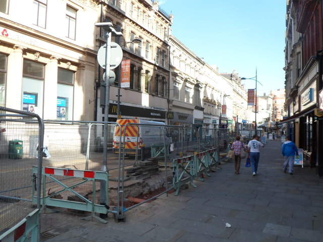 Underground gas pipe roadworks in central Newport(2)
