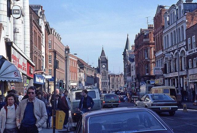 Friar Street in 1985