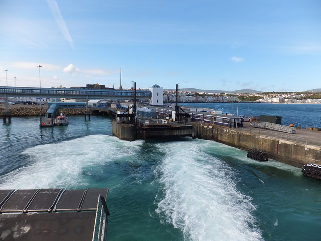 Leaving the Isle of Man Steam Packet's pontoon