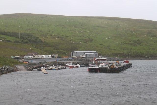 Pier and caravans