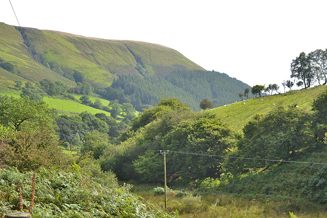 Looking down the Nant Carfan valley