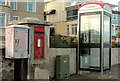 C8238 : Drop box, wall box and telephone box, Portstewart by Albert Bridge