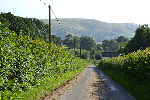 Road heading south from Pandy