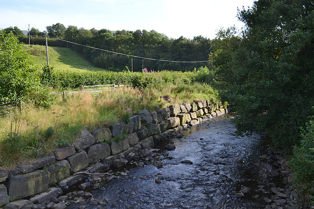 The Afon Rhiwsaeson north of Llanbrymair