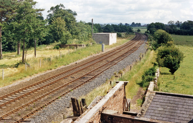Site of Curthwaite station, 1986