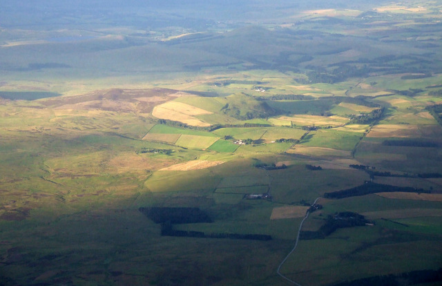 Dunsyre Hill from the air