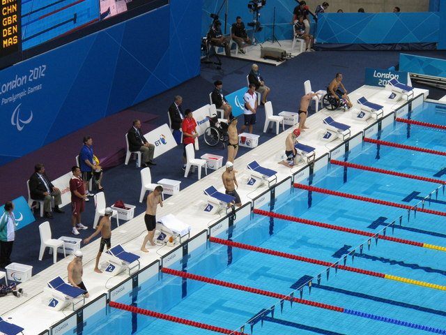 Paralympics swimming  men's 50M back S5