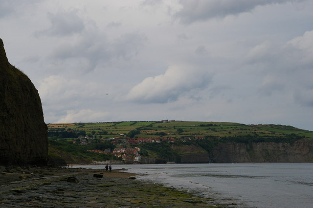 Looking north along the coast at Stoupe Beck Sands