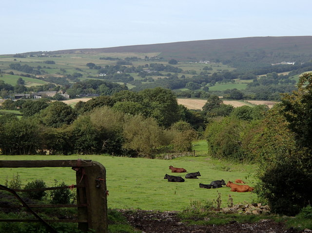 Views across countryside south of Totley