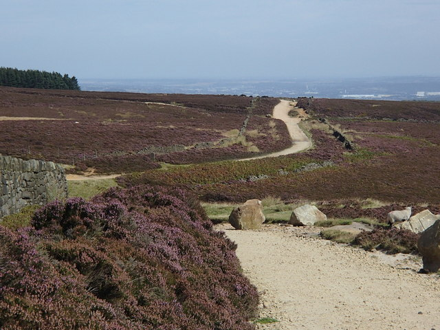 Houndkirk Road crossing the headwaters of Redcar Brook