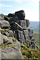 SK0986 : Rocky edge of Kinder near The Wool Packs by Neil Theasby