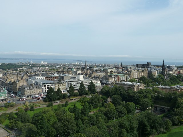 View over northeast Edinburgh