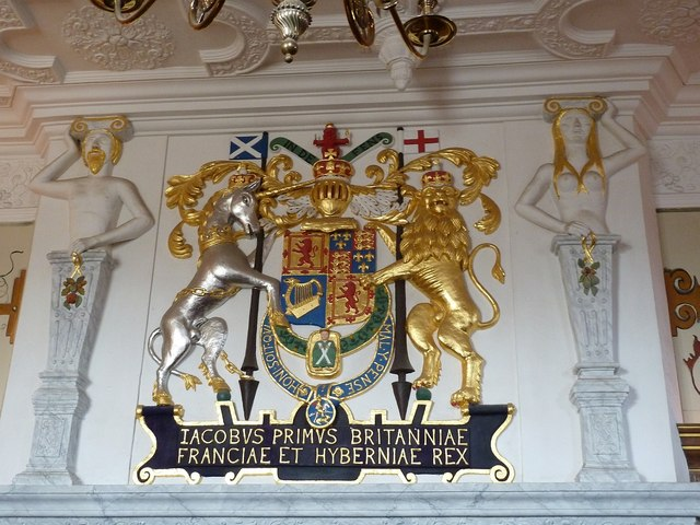 Edinburgh Castle - Arms of James VI and I