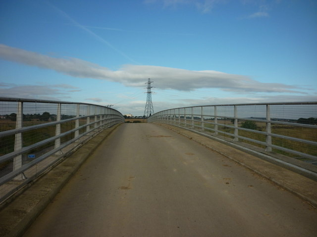 Grovehall Lane bridge over the A1M