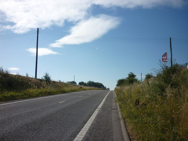 Looking up to former A1 slip road