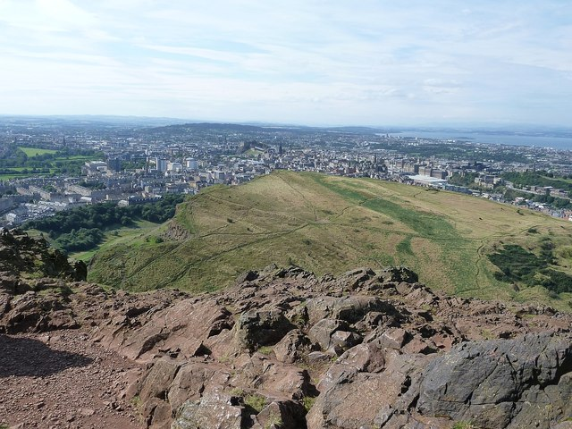 Arthur's Seat - view over Salisbury Crags