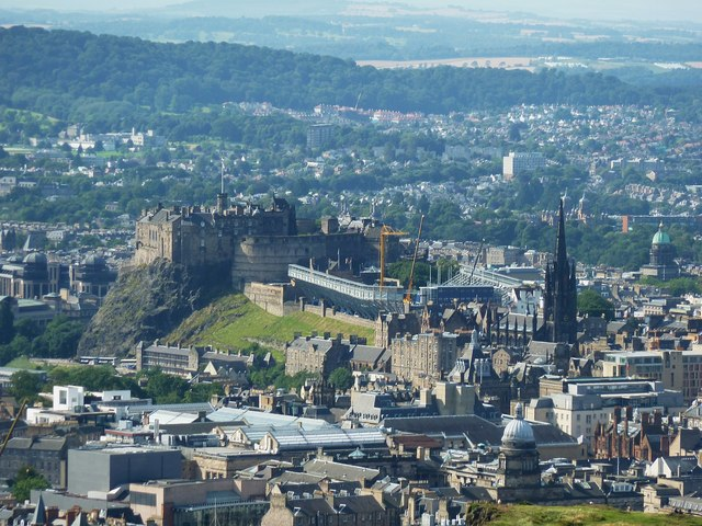 Edinburgh Castle from Arthur's Seat