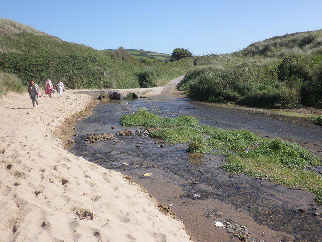 Stream, Croyde Bay
