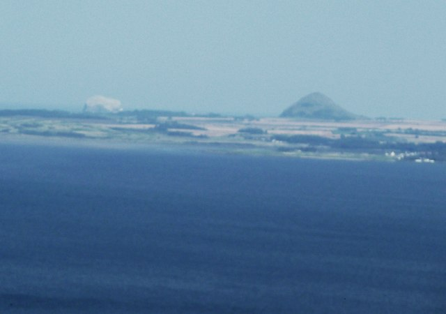 Bass Rock and North Berwick Law from Arthur's Seat