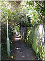 TM3863 : Footpath to Seaview Avenue by Adrian Cable