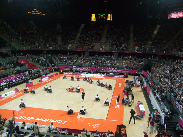 Warm up for Wheelchair Rugby