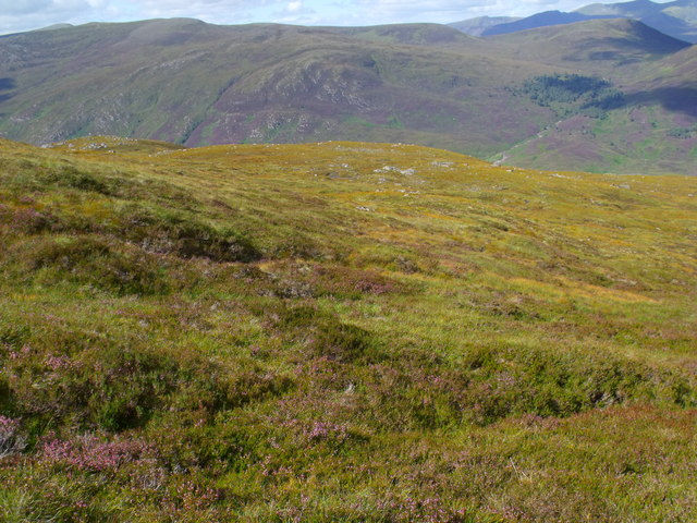 Ridge north of Carn Loch na Gobhlaig above Glen Cannich, Inverness
