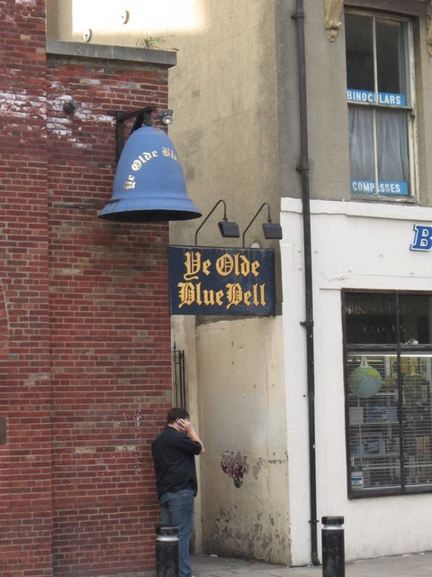 The entrance to Ye Olde Blue Bell