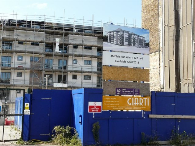 Flats under construction, Eaton Road, Margate