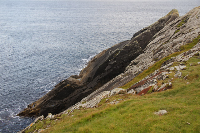 The east side of the Stack of Meenataing, Lamba Ness