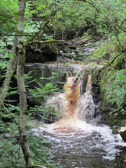 Waterfall on Hareshaw Burn
