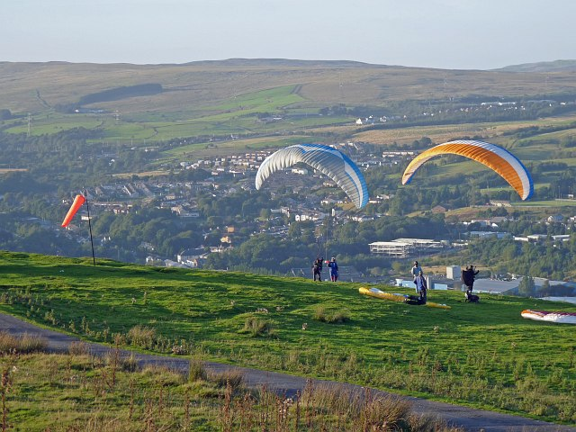 Paragliding take off area