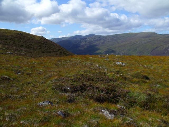Looking west from ridge above Glas Choire near Glen Cannich, Inverness