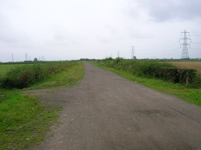 The main droveway across Caldicot Moor