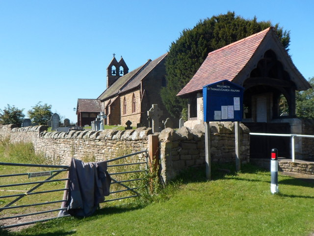 Lych gate and church board, Halford
