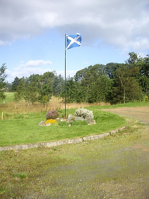 The Saltire on display at Lumphanan GC