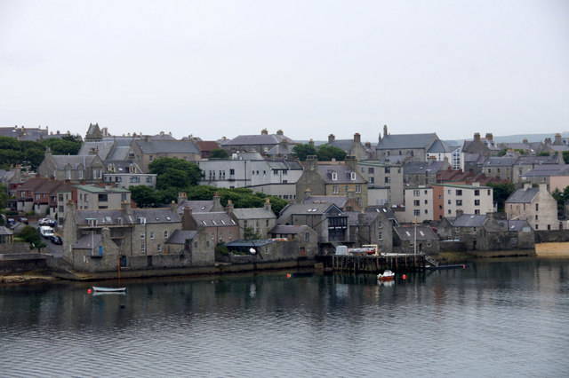South end of Commercial Street, Lerwick, from the sea