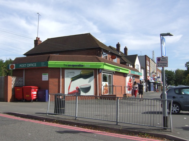 Post Office and Co-op shop on the Broadway West