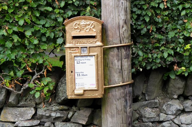 Gold postbox, Kirkton Manor