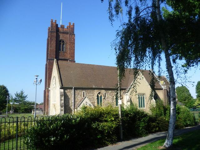 St Nicholas Church, Plumstead seen from St Nicholas Gardens