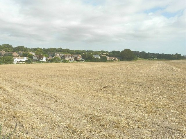 East Langdon across a field