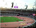 TQ3784 : Field events in the Olympic Stadium by Paul Gillett